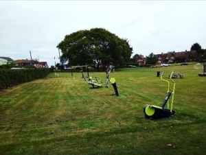 The outdoor gym on the Warren